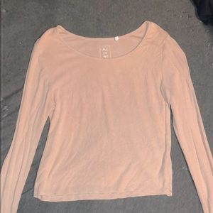 Pacsun Pink Long Sleeve Cropped Top